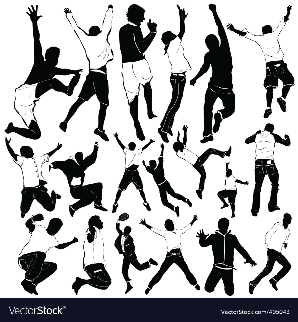 Dancing and party men vector | Price: 1 Credit (USD $1)