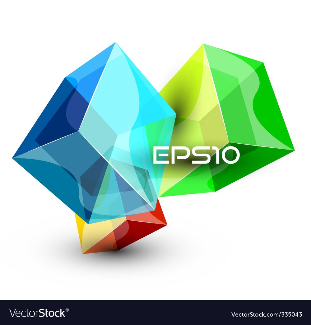 Futuristic dimensional boxes vector   Price: 1 Credit (USD $1)