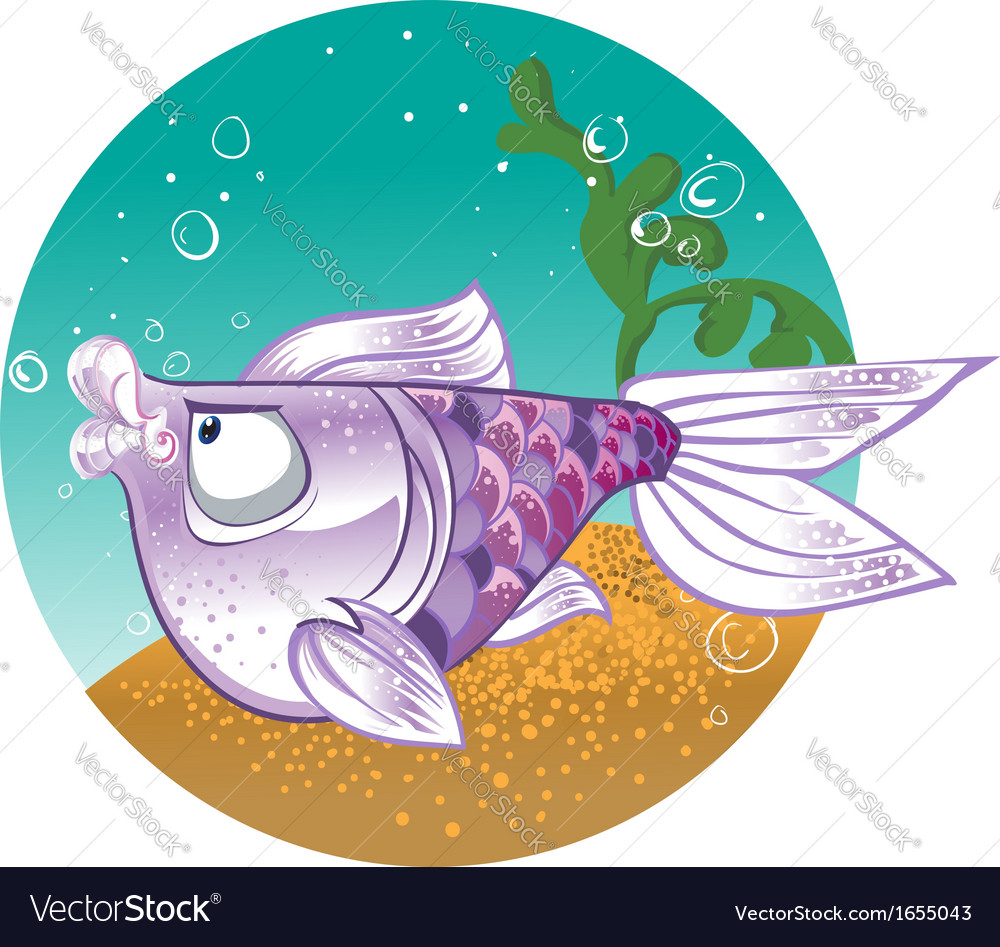 Light violet fish on the bacground vector | Price: 3 Credit (USD $3)