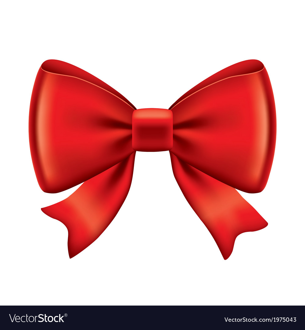 Object red bow vector | Price: 1 Credit (USD $1)