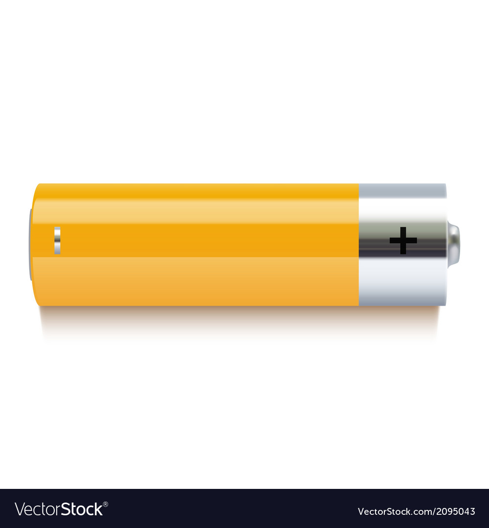 Realistic yellow battery icon vector | Price: 1 Credit (USD $1)