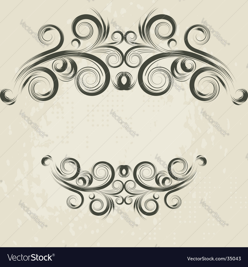 Vintage frame elements vector | Price: 1 Credit (USD $1)