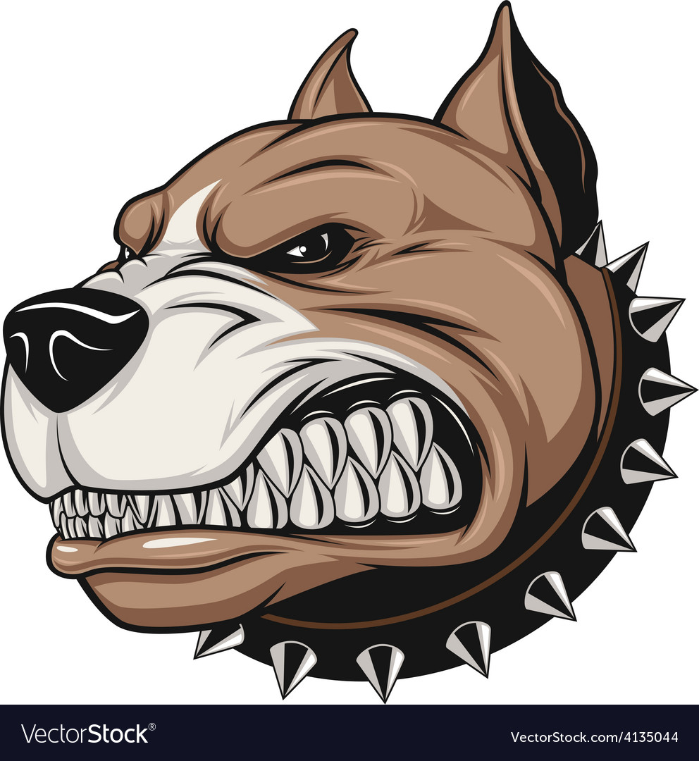 Angry dog vector | Price: 3 Credit (USD $3)