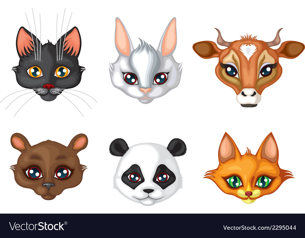 Cute animal muzzle vector | Price: 1 Credit (USD $1)