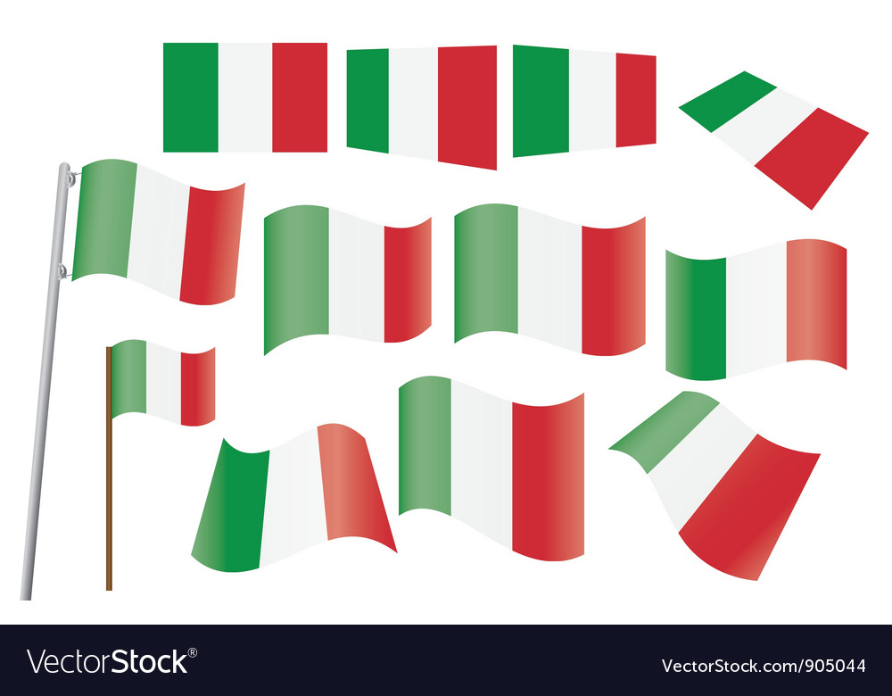 Flag of italy vector | Price: 1 Credit (USD $1)