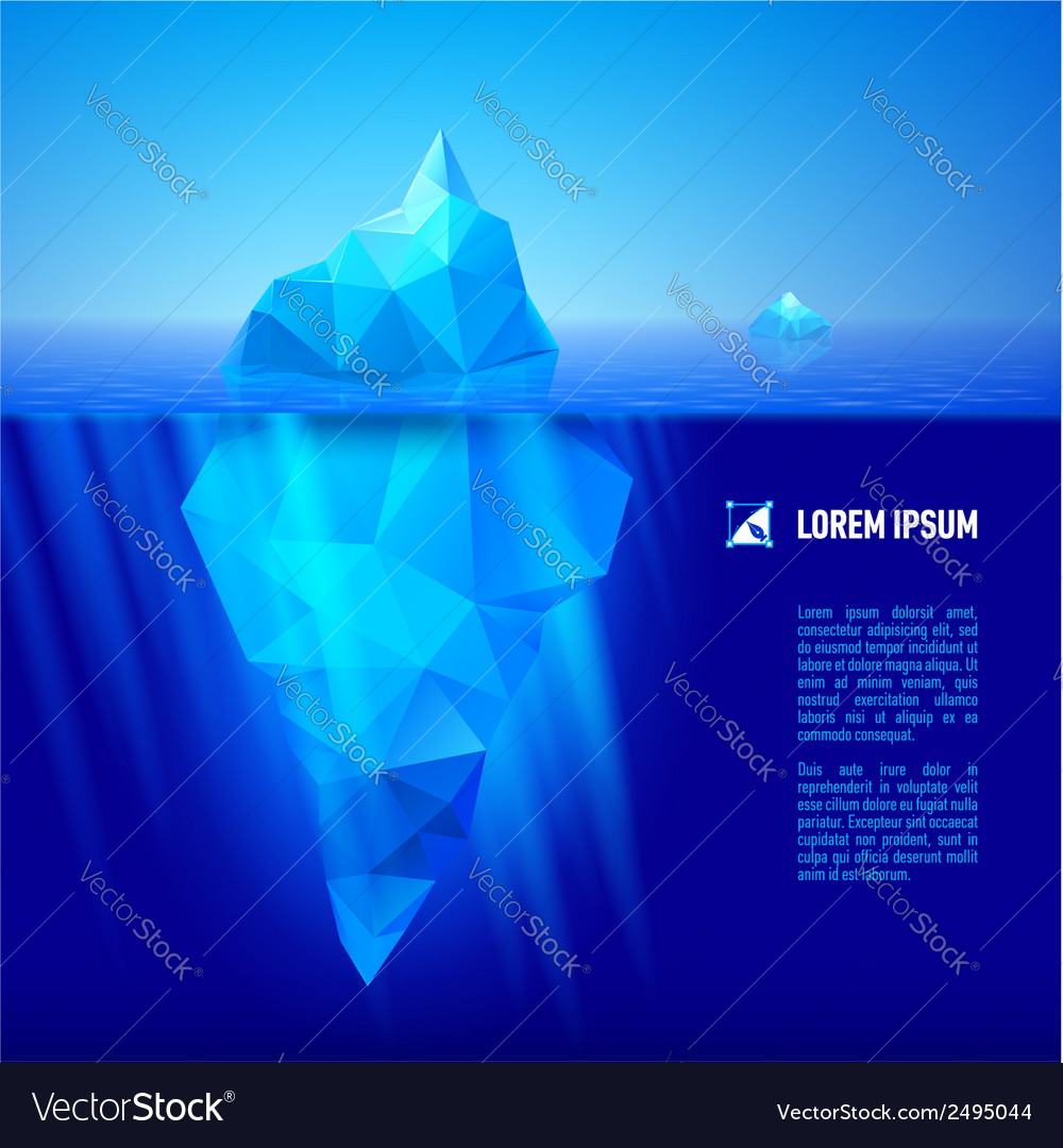 Iceberg under water vector | Price: 1 Credit (USD $1)