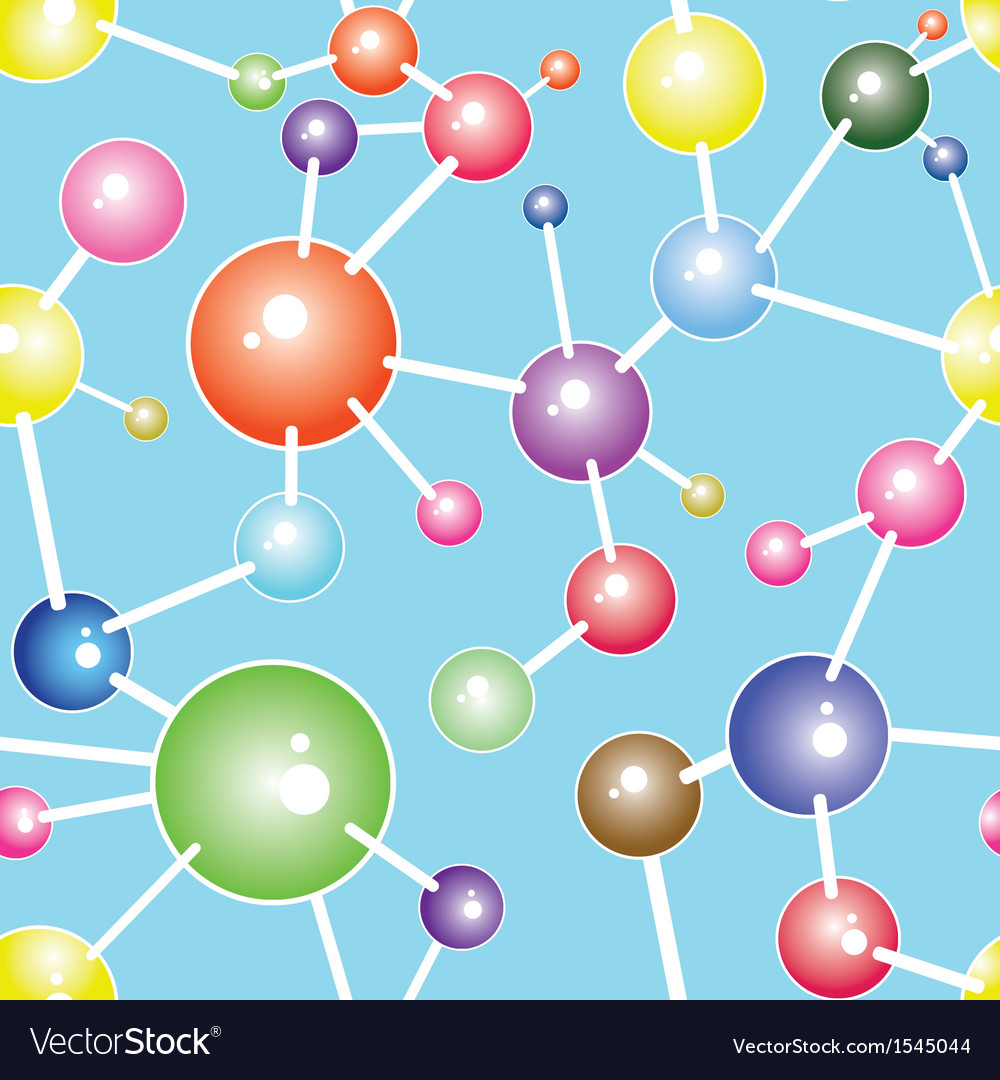 Molecule seamless communication background vector | Price: 1 Credit (USD $1)