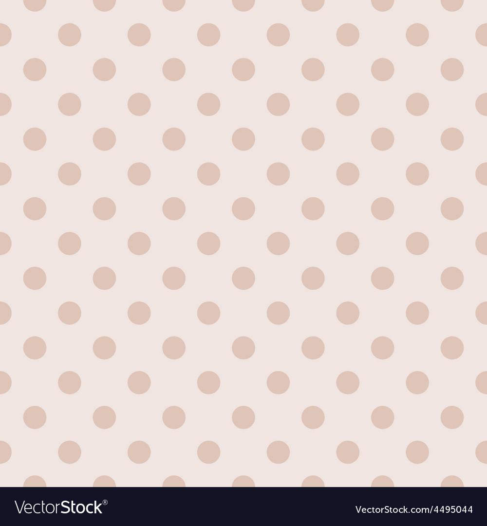 Tile pastel pattern with polka dots for background vector | Price: 1 Credit (USD $1)