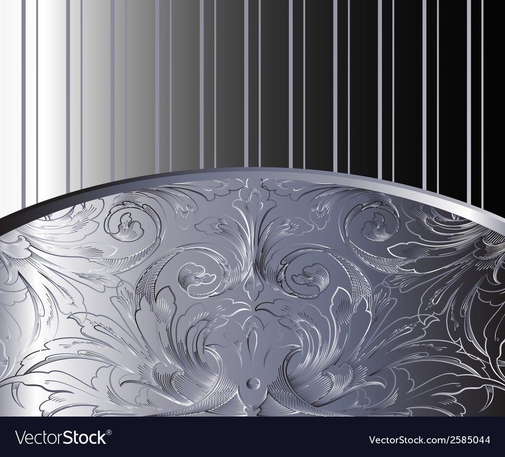 Vintage background antique victorian silver orna vector | Price: 1 Credit (USD $1)