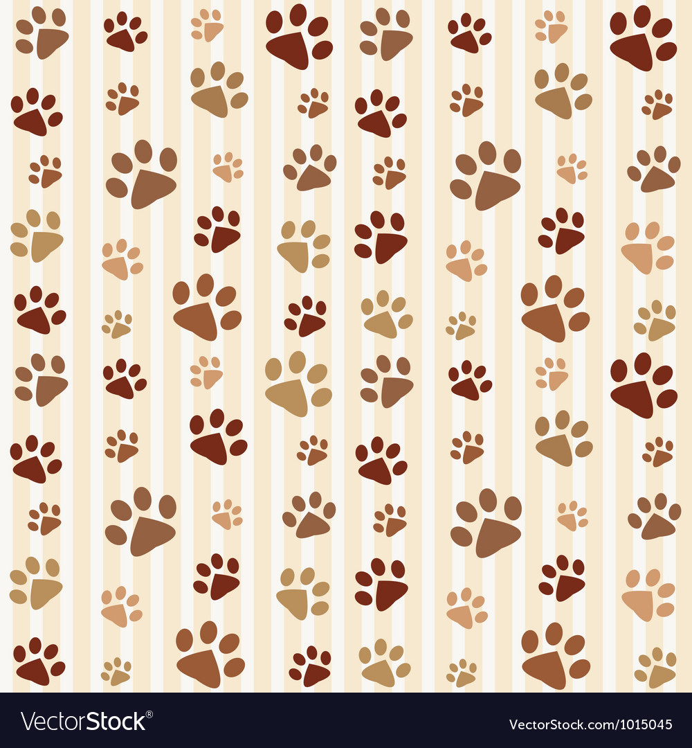 Brown footprints seamless pattern vector