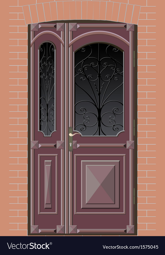 Closed door with grille vector | Price: 1 Credit (USD $1)