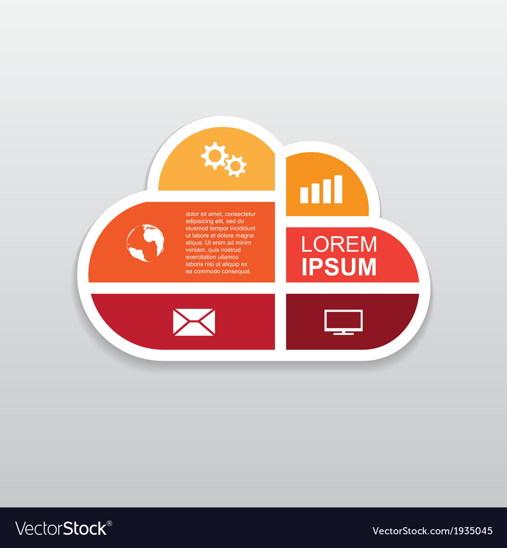 Cloud infographic vector | Price: 1 Credit (USD $1)