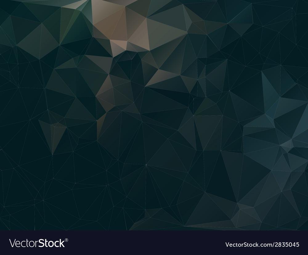 Dark abstract background polygon vector   Price: 1 Credit (USD $1)