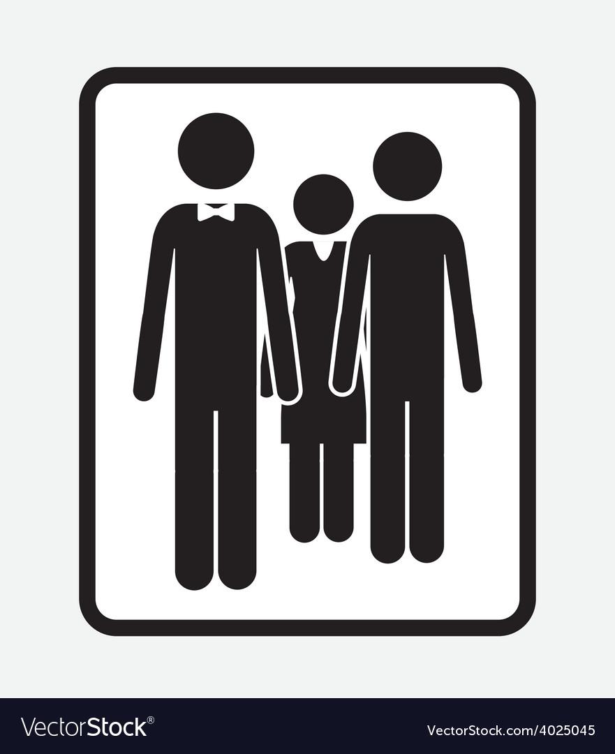 Family portrait desing vector | Price: 1 Credit (USD $1)