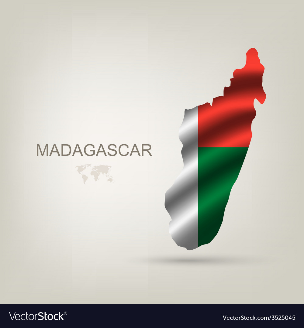 Flag of madagaskar as the country vector | Price: 1 Credit (USD $1)