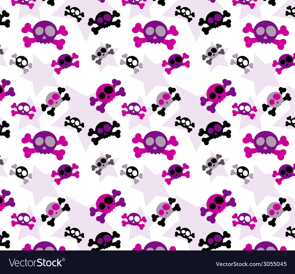Girly skull background vector