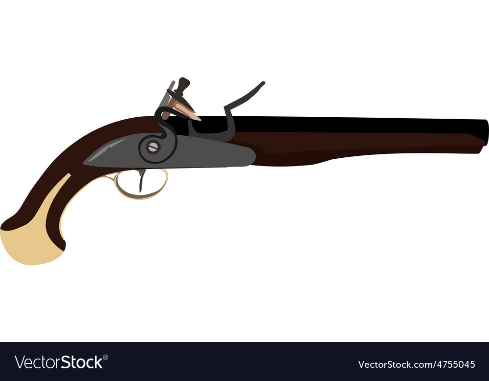 Musket gun vector | Price: 1 Credit (USD $1)