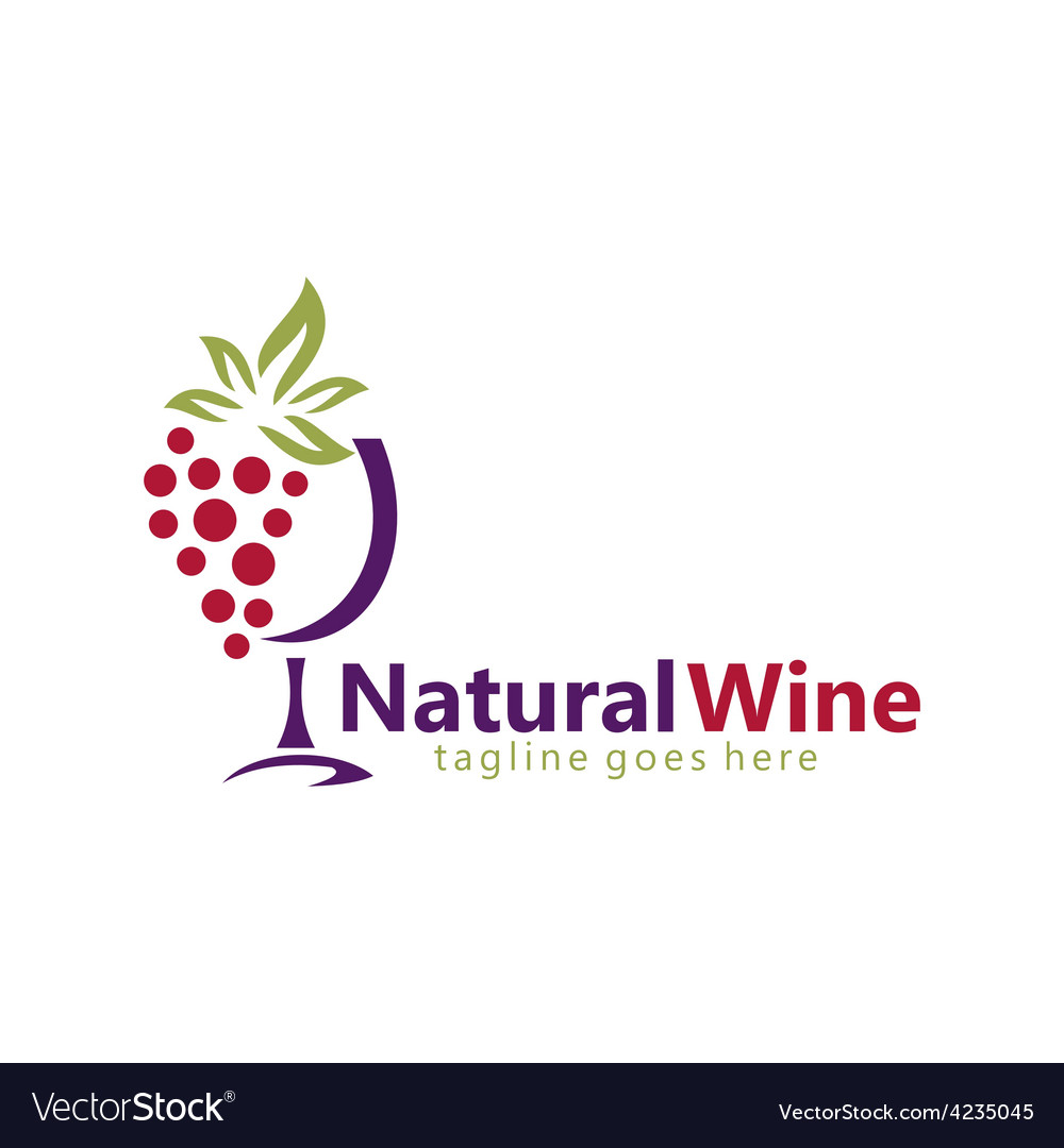 Natural wine abstract logo vector | Price: 1 Credit (USD $1)