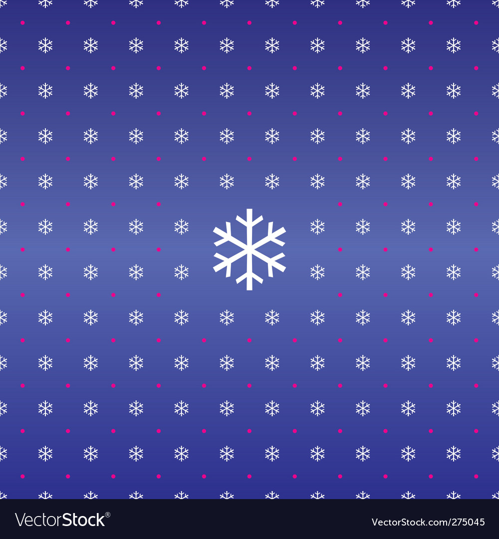 Seamless christmas background of snowflakes vector | Price: 1 Credit (USD $1)