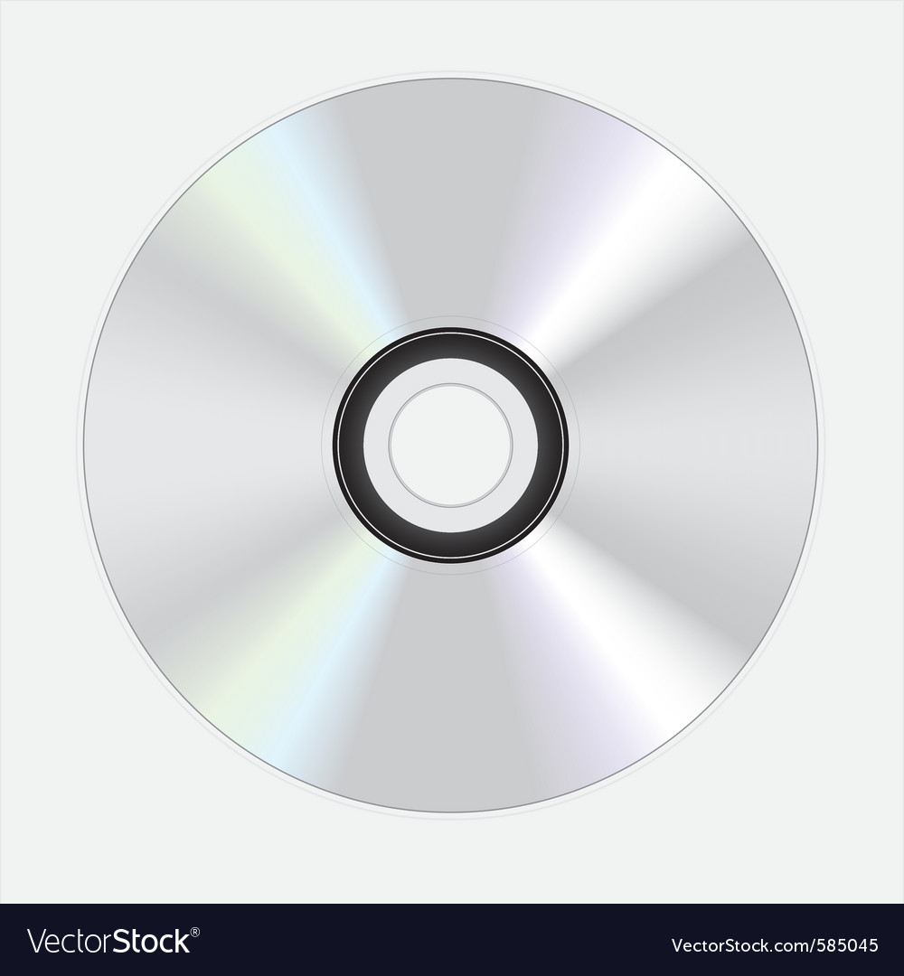 Silver dvd disc vector | Price: 1 Credit (USD $1)