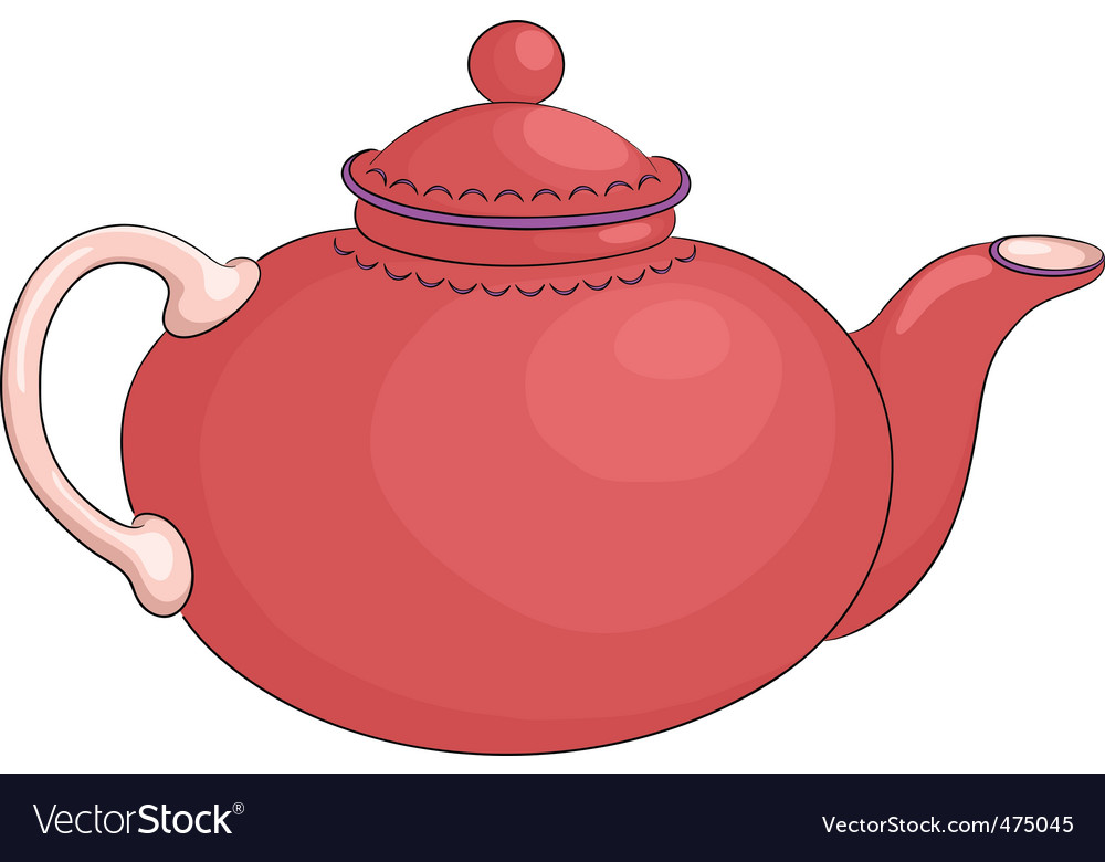 Teapot red vector | Price: 1 Credit (USD $1)