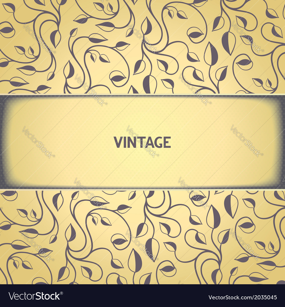 Vintage floral pattern with aged effect vector | Price: 1 Credit (USD $1)