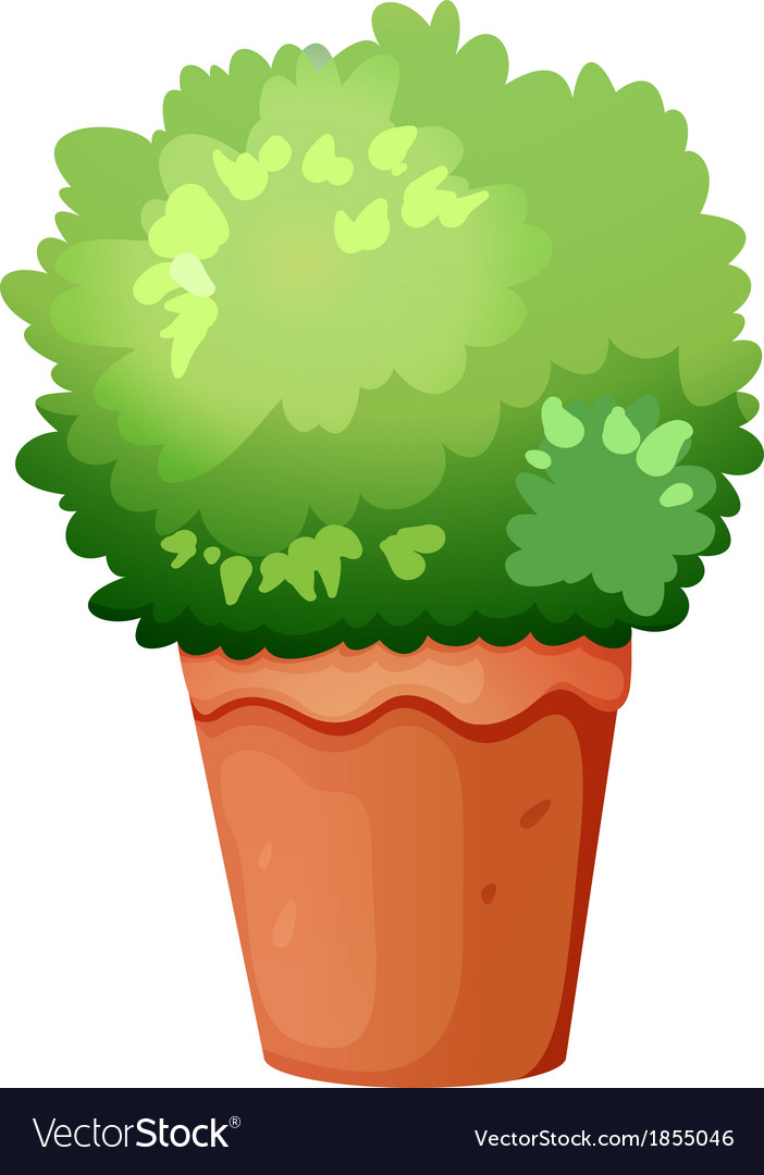 A green potted plant vector | Price: 1 Credit (USD $1)
