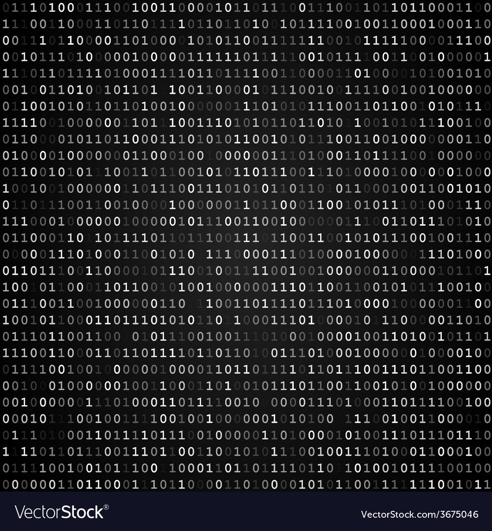 Binary code screen black vector | Price: 1 Credit (USD $1)