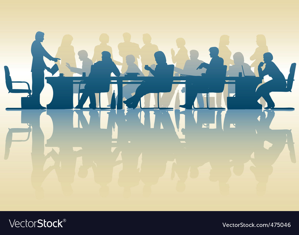 Business meeting vector | Price: 1 Credit (USD $1)