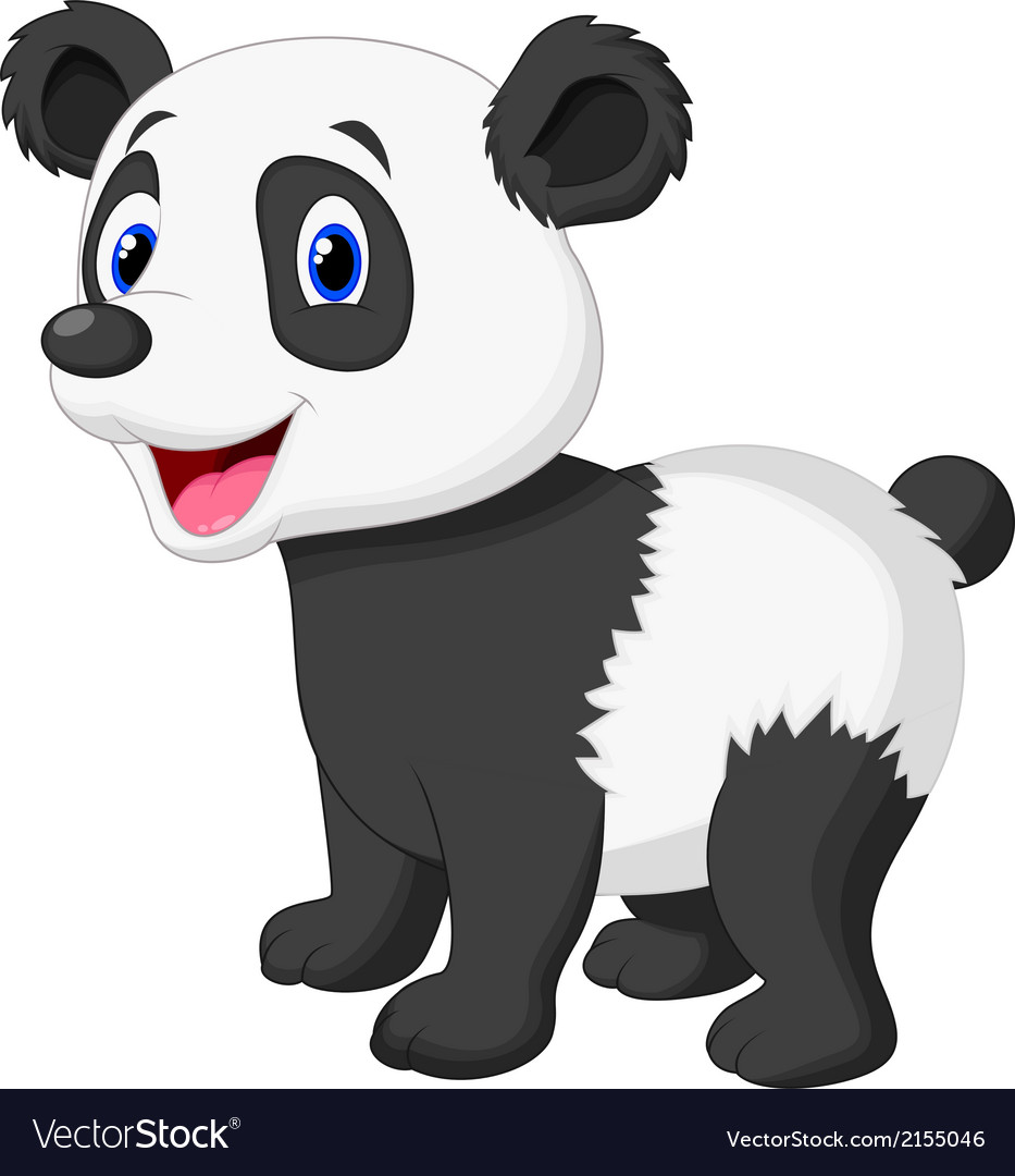 Cute panda bear cartoon vector | Price: 1 Credit (USD $1)