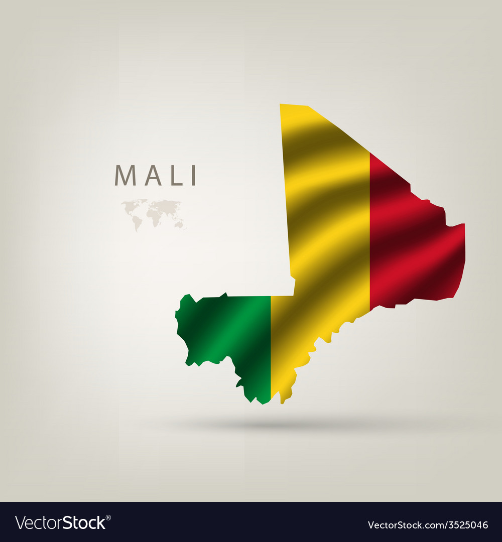 Flag of mali as the country vector | Price: 1 Credit (USD $1)