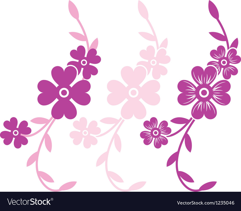 Flower branch vector | Price: 1 Credit (USD $1)