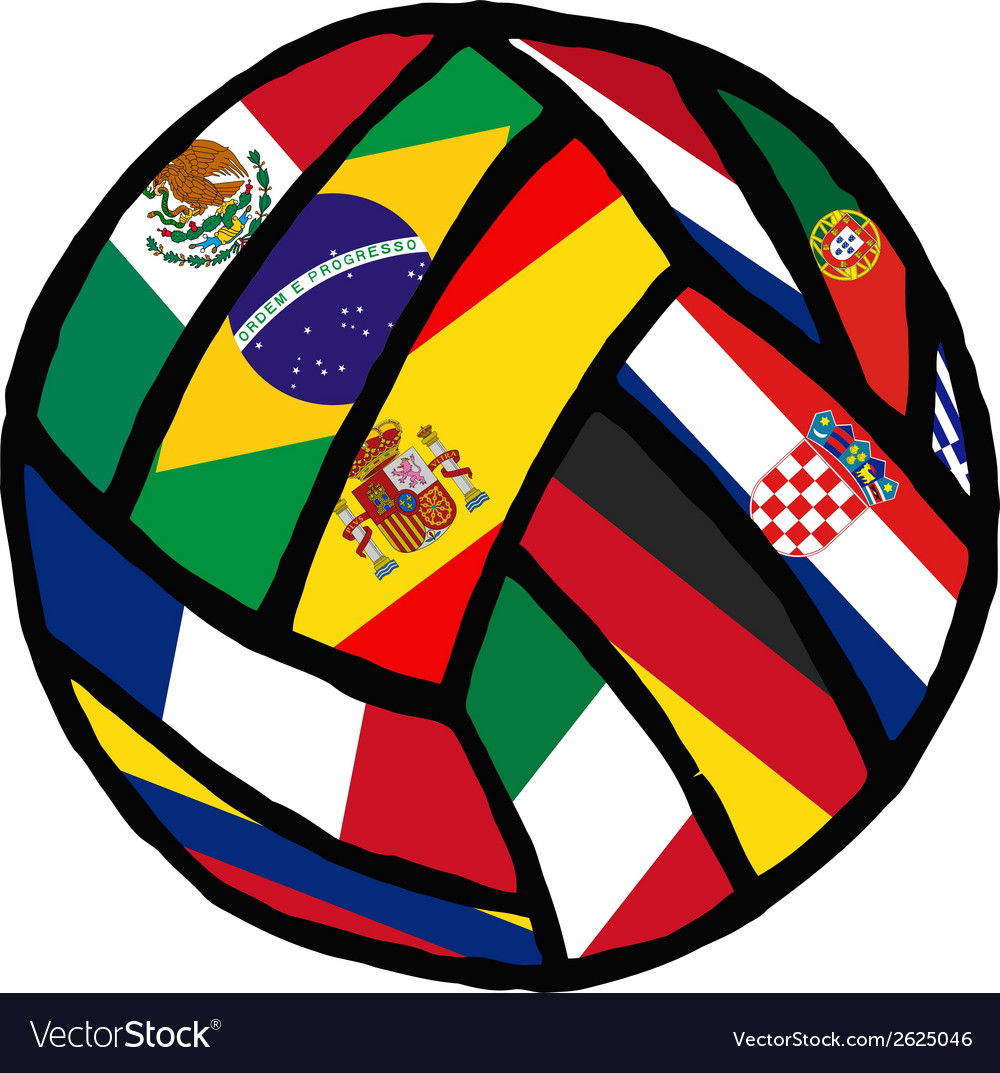 Football soccer ball made of flags vector | Price: 1 Credit (USD $1)