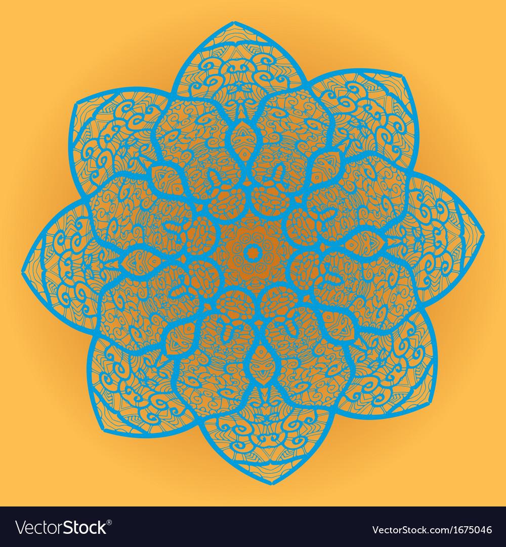 Oriental mandala motif vector   Price: 1 Credit (USD $1)