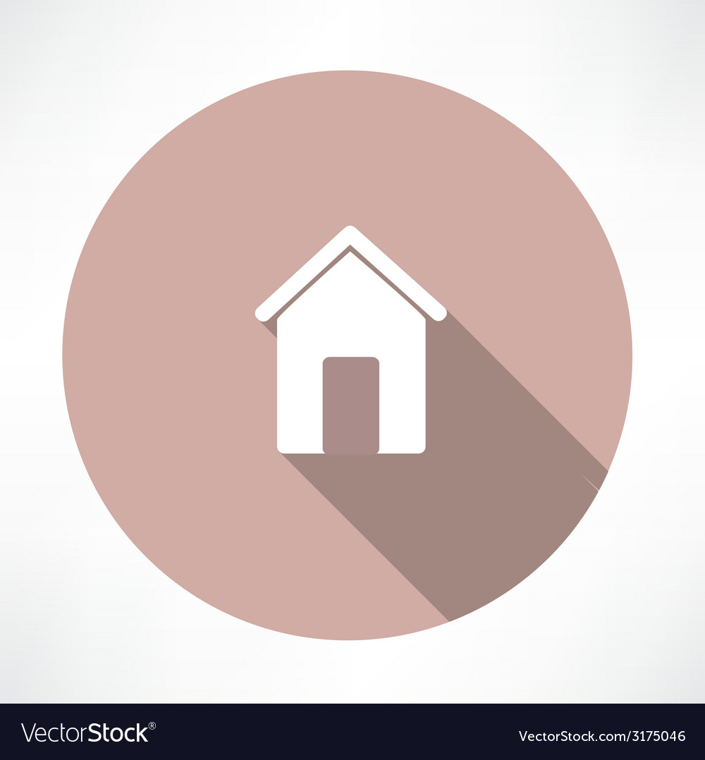 Small house icon vector | Price: 1 Credit (USD $1)