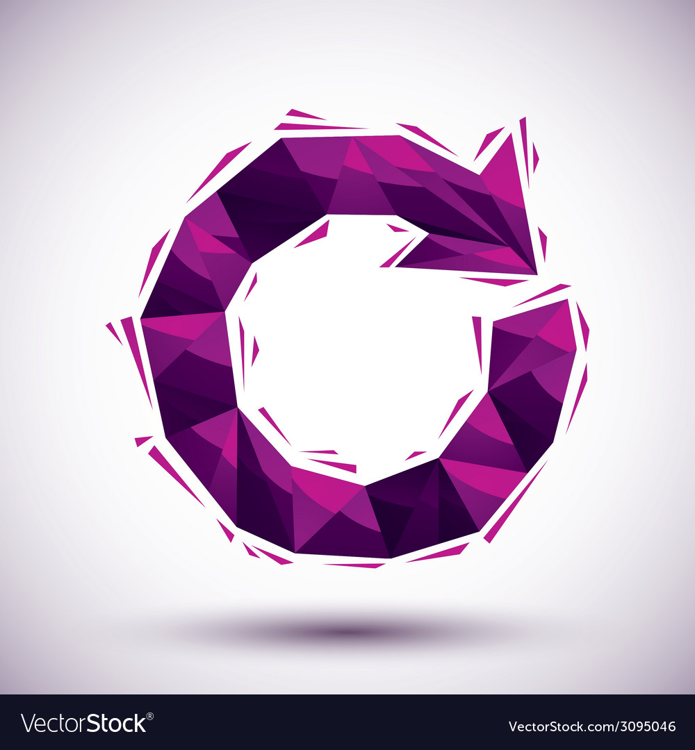 Violet reload geometric icon made in 3d modern vector | Price: 1 Credit (USD $1)