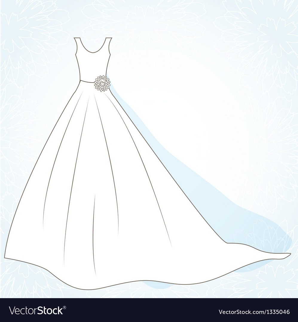 Wedding background with dress vector | Price: 1 Credit (USD $1)