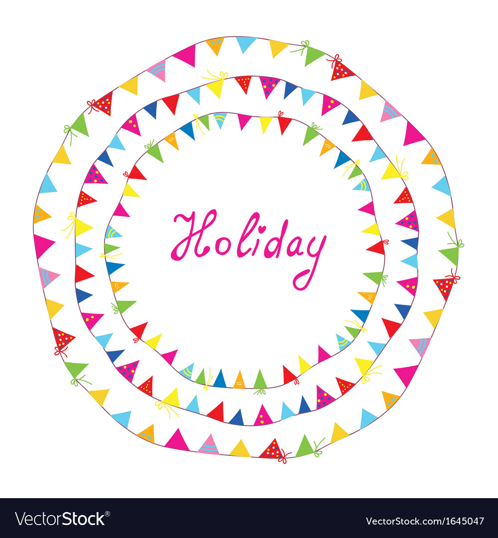 Bunting flags holiday frame for children vector | Price: 1 Credit (USD $1)