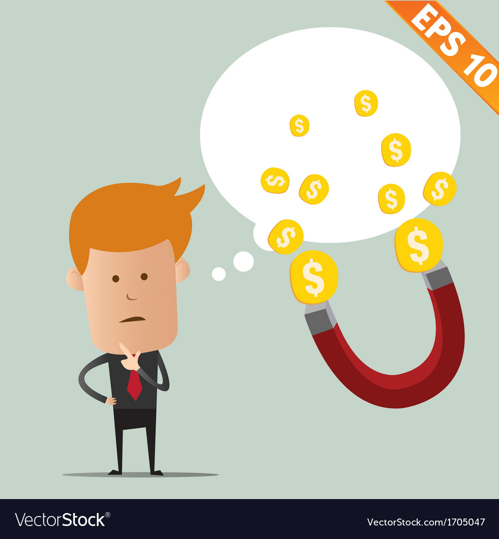 Business man thinking - - eps10 vector | Price: 1 Credit (USD $1)