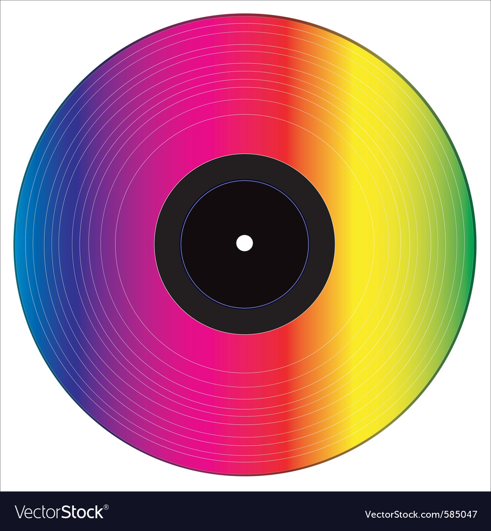 Colored vinyl disc vector | Price: 1 Credit (USD $1)