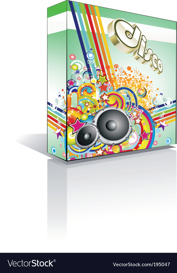 Disco music box or package vector | Price: 3 Credit (USD $3)