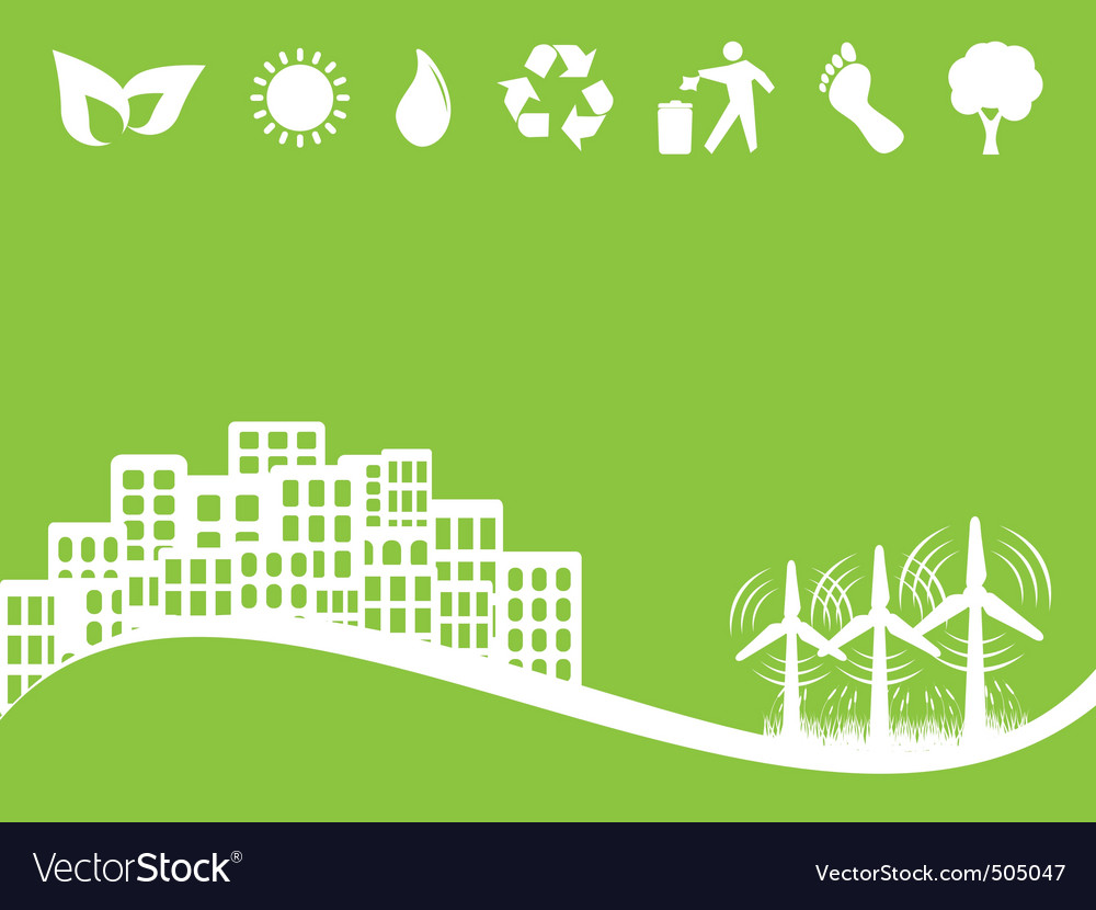 Eco city vector | Price: 1 Credit (USD $1)