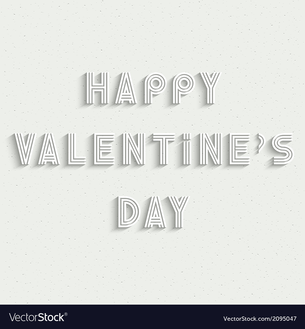 Happy valentines day white stylish card design vector | Price: 1 Credit (USD $1)