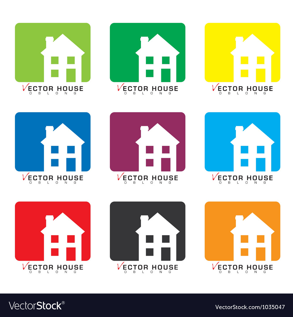 House icon collection vector | Price: 1 Credit (USD $1)