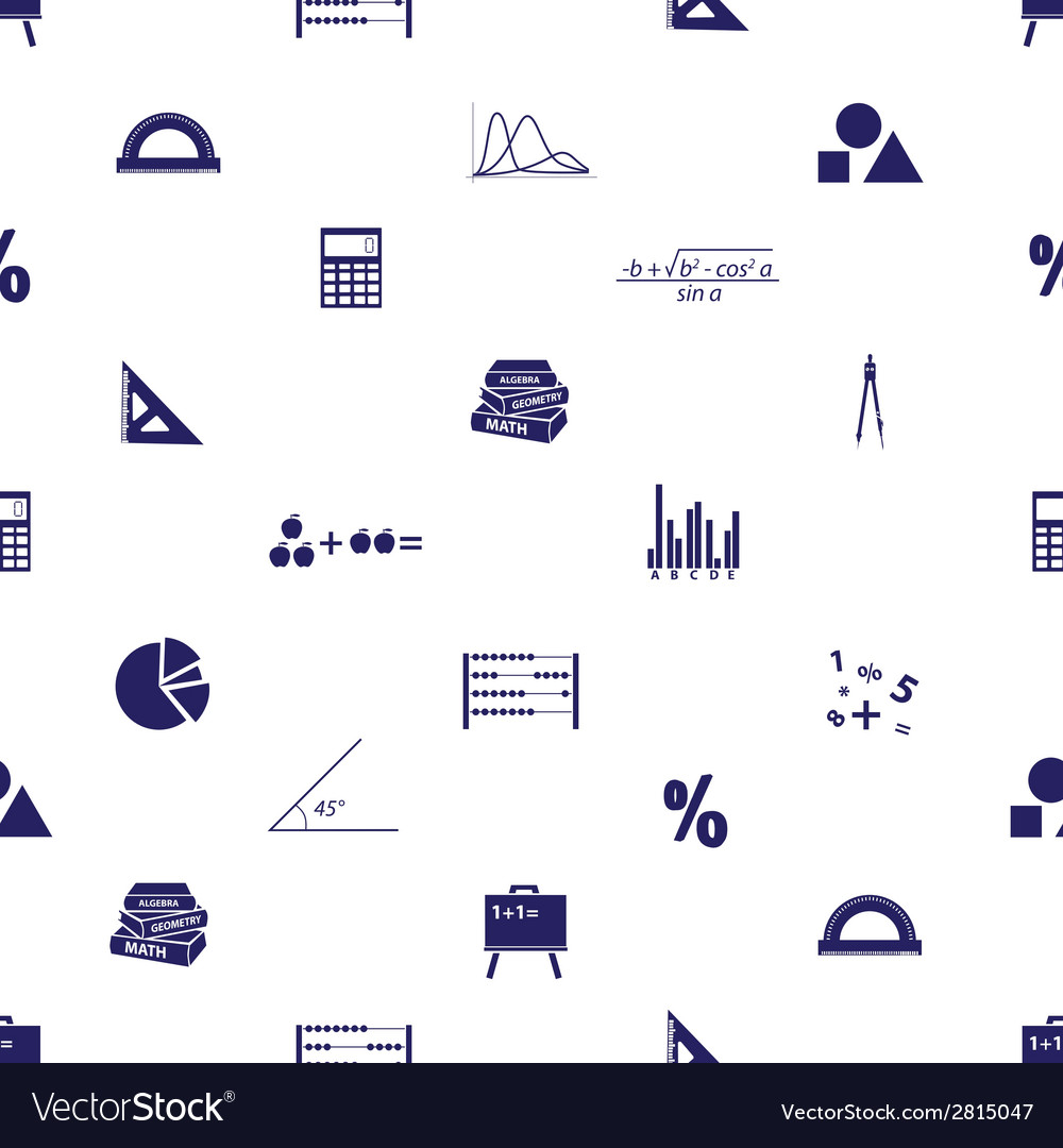 Mathematics icons seamless pattern eps10 vector | Price: 1 Credit (USD $1)