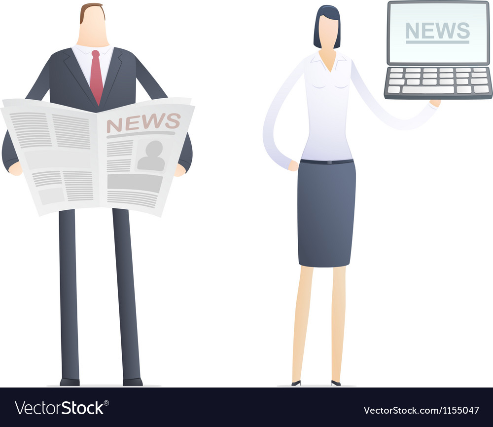 News in the paper and on the computer vector | Price: 1 Credit (USD $1)