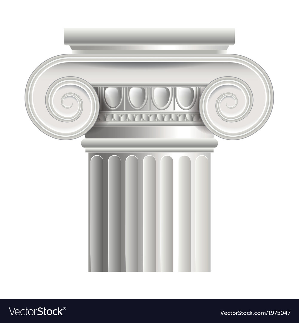 Object roman or greek column vector | Price: 1 Credit (USD $1)