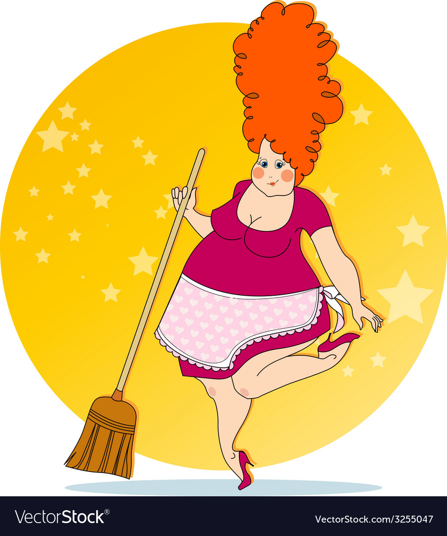 Positive housewife vector | Price: 1 Credit (USD $1)
