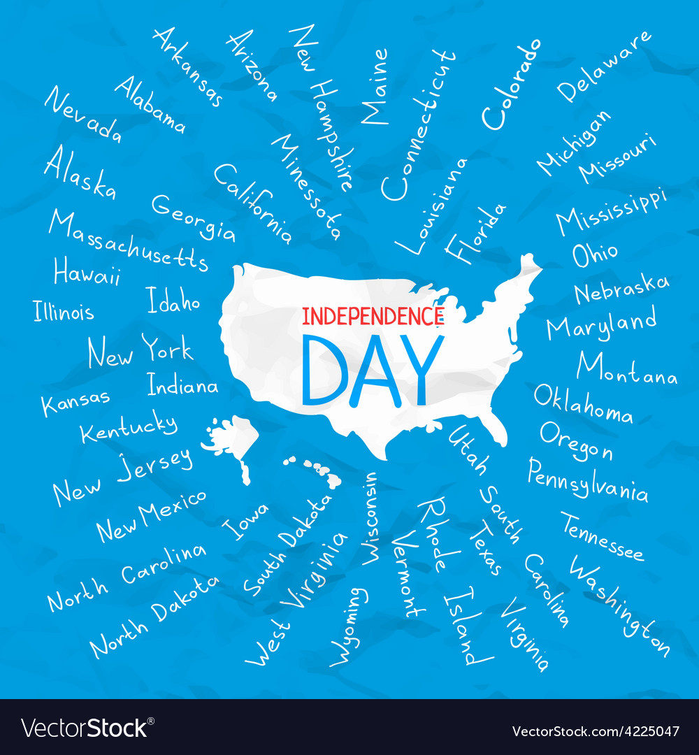 Usa states independence day vector | Price: 1 Credit (USD $1)