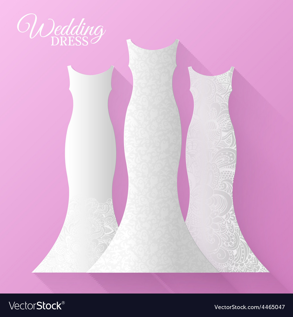 Wedding beautiful suits clothing ornamental style vector | Price: 1 Credit (USD $1)